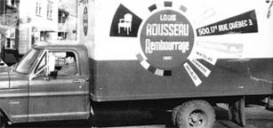 Louis Rousseau Rembourrage,  Québec - truck3